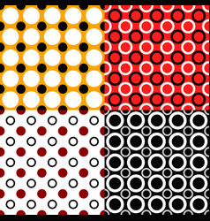 Simple seamless pattern set - circle background vector