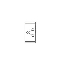 smartphone share icon vector image
