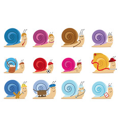 snail characters vector image