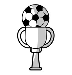 Soccer winner cup - shadow vector