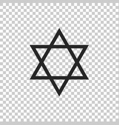 Star of david icon on transparent background vector