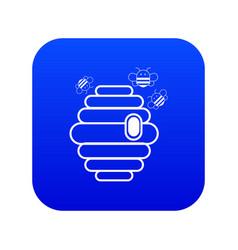swarm icon blue vector image