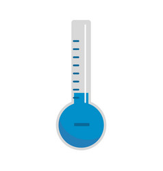 thermometer cold icon flat style vector image