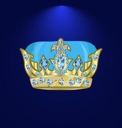 Tiara with precious stones 3 vector