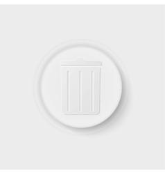 Trash can button vector
