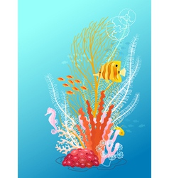 Underwater bouquet vector