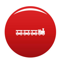 Wagons icon red vector