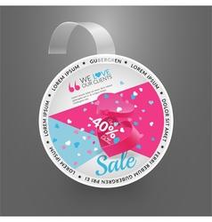 Wobbler design template for sale event vector image