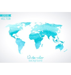 World watercolour map isolated on light background vector