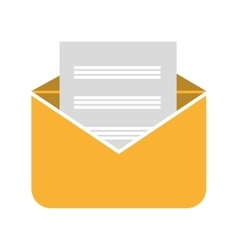 yellow open envelope graphic vector image