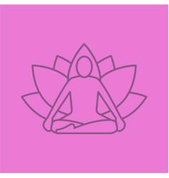 yoga position linear icon vector image