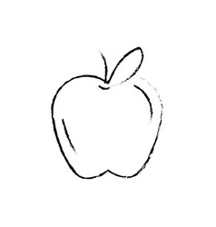 figure delicious and healthy apple fruit vector image