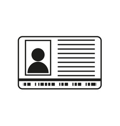 id sign black icon on white vector image vector image