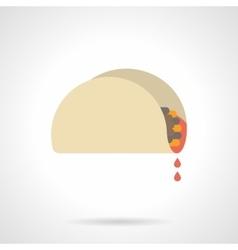 Mexican snacks flat color icon vector image