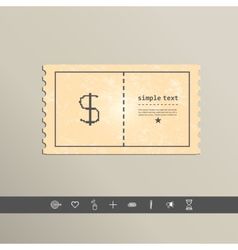 Simple style pixel icon dollar sign design vector image vector image