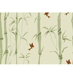 Seamless beautiful bamboo background vector image vector image