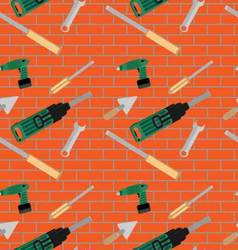 Seamless pattern with hand tools vector image vector image