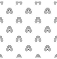 Seamless pattern with poodle Dog head flat icon vector image