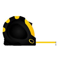 tool measuring tape icon image vector image