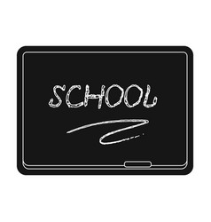 blackboard with chalk and pointer board for vector image vector image