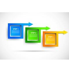 progress steps vector image vector image