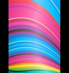 rainbow ridge vector image vector image