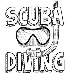 Scuba diving vector image vector image