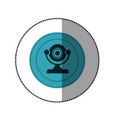 blue symbol computer camera icon vector image