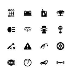 car - flat icons vector image