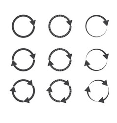 gray circle arrow on white background gray circle vector image vector image