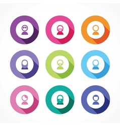 set of icons of men for users vector image vector image