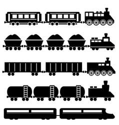 train and railroads vector image