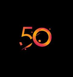 50 years anniversary celebration gradient number vector