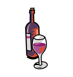 A wine with glass vector image