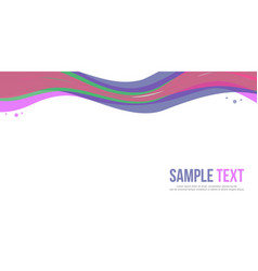 Abstract background design website header colorful vector