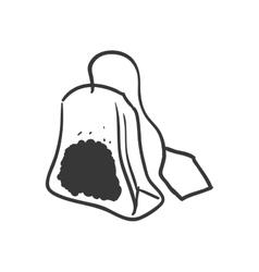 Bag with label icon Tea drink design vector