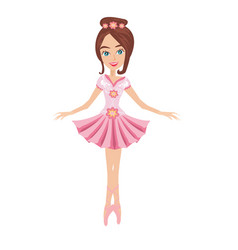 beautiful ballerina - isolated vector image