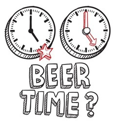 Beer time vector