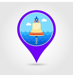 Bell marine pin map icon Summertime Vacation vector