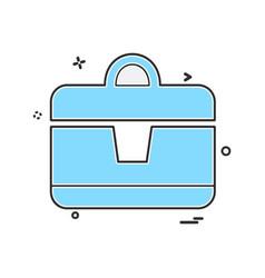 briefcase icon design vector image