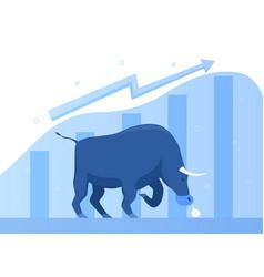 bull market metaphor vector image