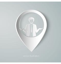 businessman web pointer icon vector image