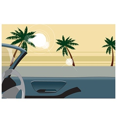 Convertible beach view vector image