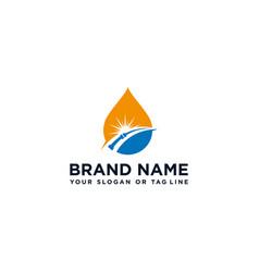 Creative logo design water pipe vector