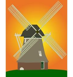 dutch windmill vector image