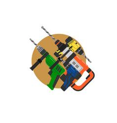 Flat design icon electric perforator vector