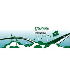 For national day-saudi arabia-23 september vector