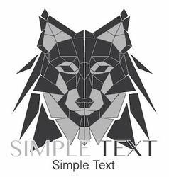 Geometric Wolf Logo or Husky 02 vector