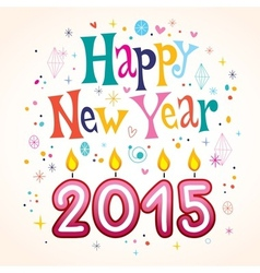 Happy New Year 2015 2 vector image