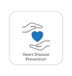 Heart Disease Prevention Icon Flat Design vector